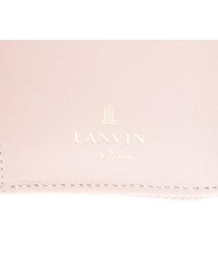 LANVIN en Bleu LANVIN en Bleu ランバンオンブルー リュクサンブール 二つ折り財布 ペールピンク