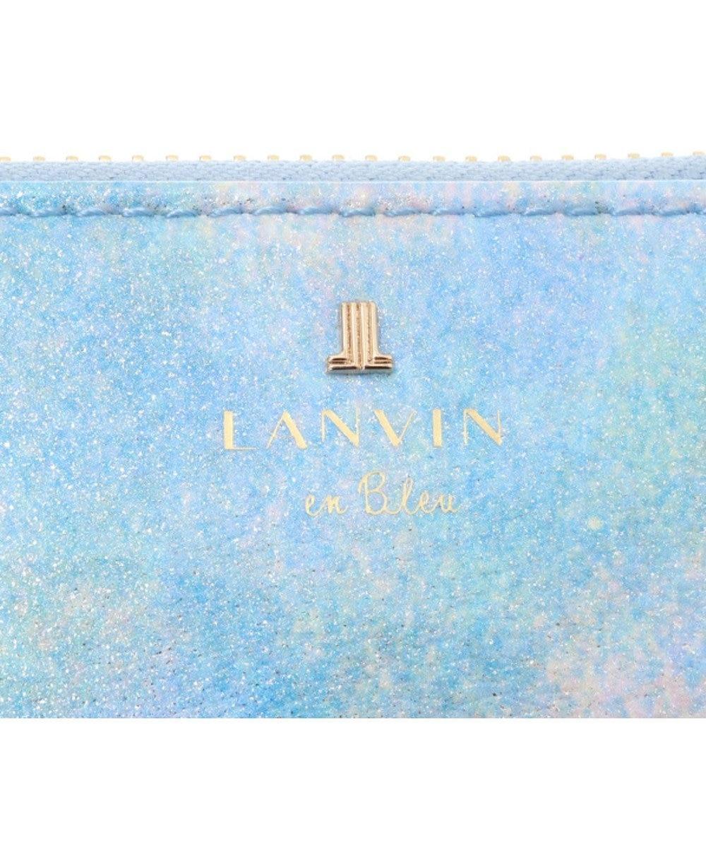 LANVIN en Bleu LANVIN en Bleu ランバンオンブルー ルパン ラウンド長財布 ブルー