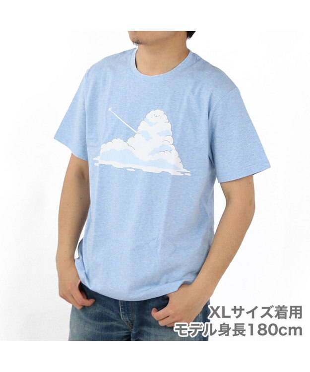 Mother garden しろたん Tシャツ 半袖 入道雲柄 青色 ユニセックス