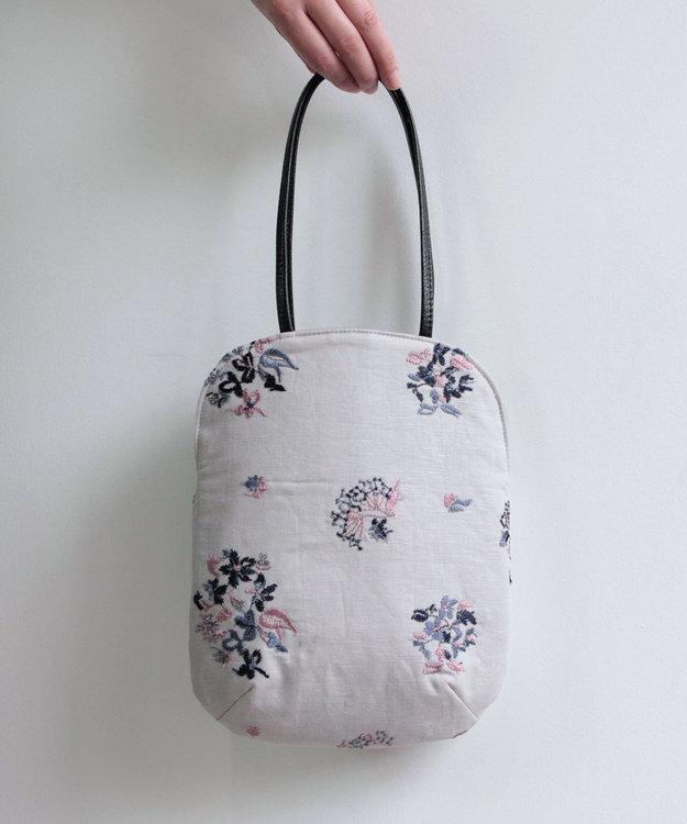 muuc 野小花刺繍のminiバッグ グレー