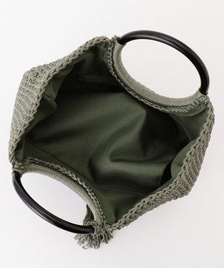 UNBILLION cachecache プラ手ハンドル手編みベーシックトートバッグ グリーン