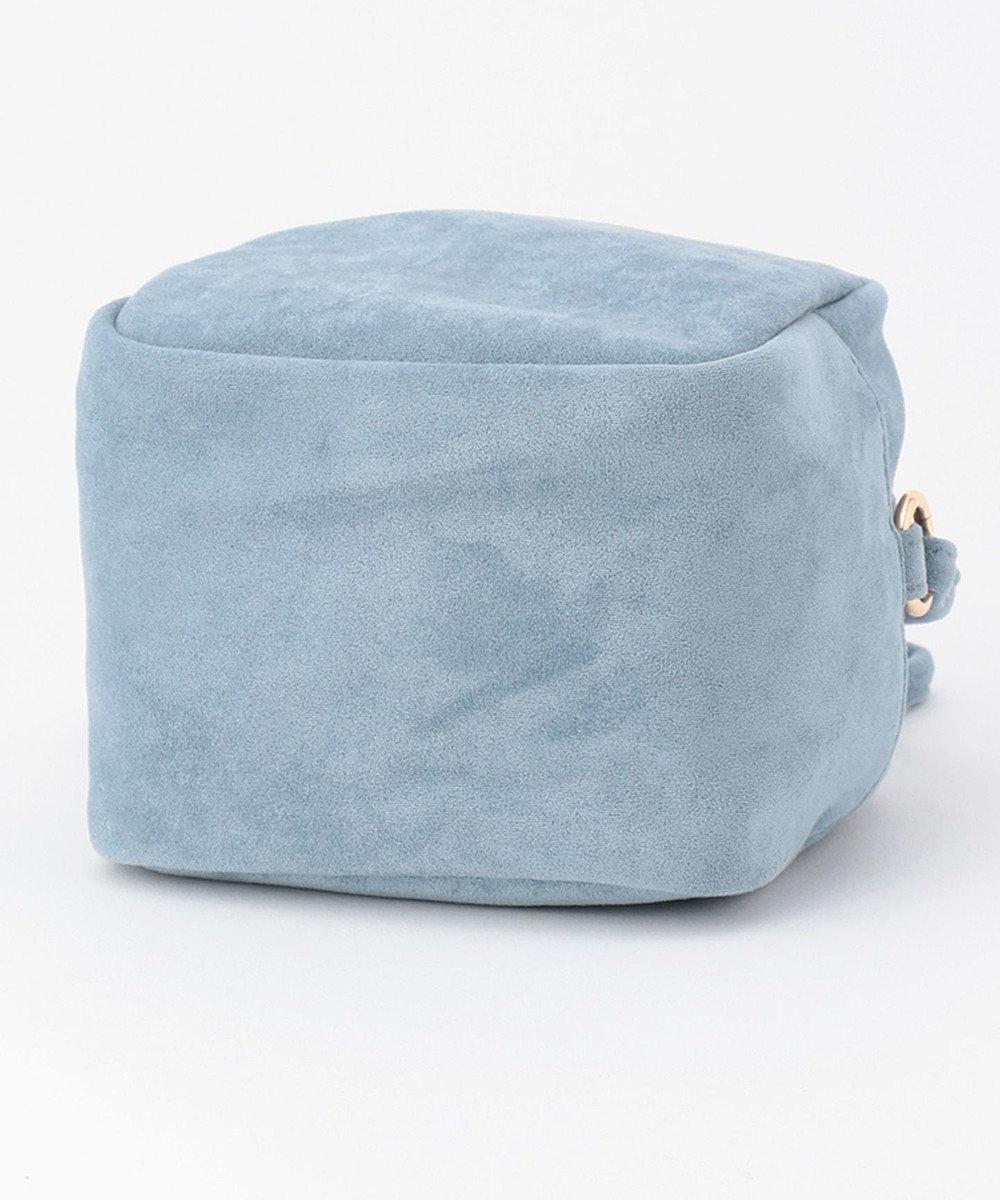 UNBILLION cachecache スエード調ボックスショルダーバッグ ブルー