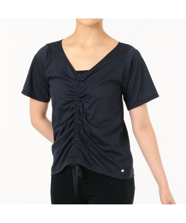 Chacott ギャザーディテールTシャツ