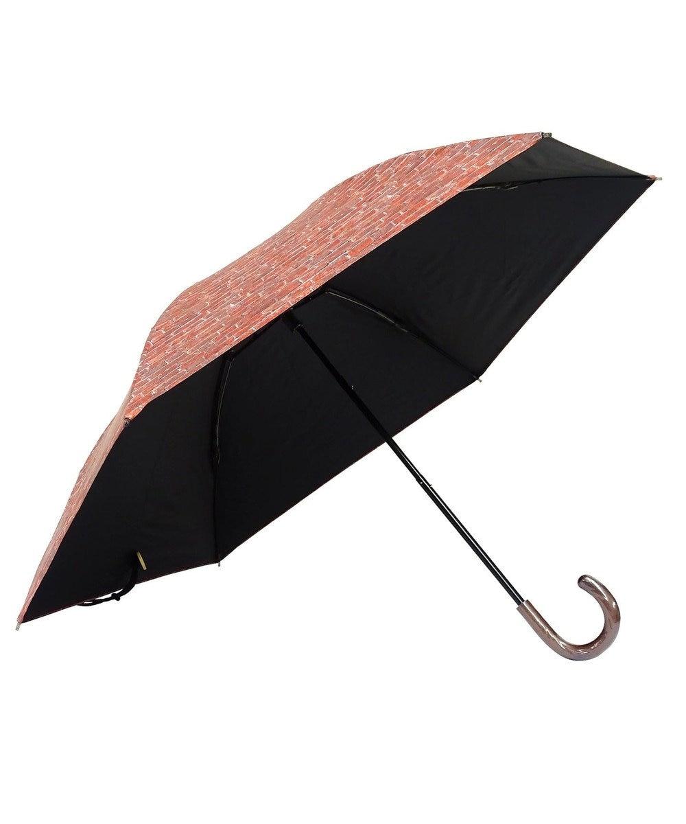 +RING 【プラスリング】【数量限定】レディース向け 晴雨兼用(折傘) 遮光 BRICK T829 ブラウン