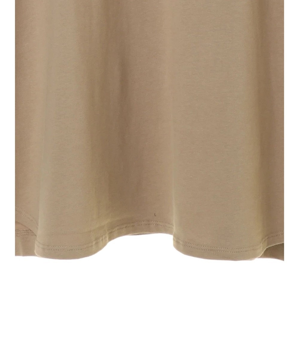 AMERICAN HOLIC 裾ラウンドドロップショルダーカットチュニック Beige