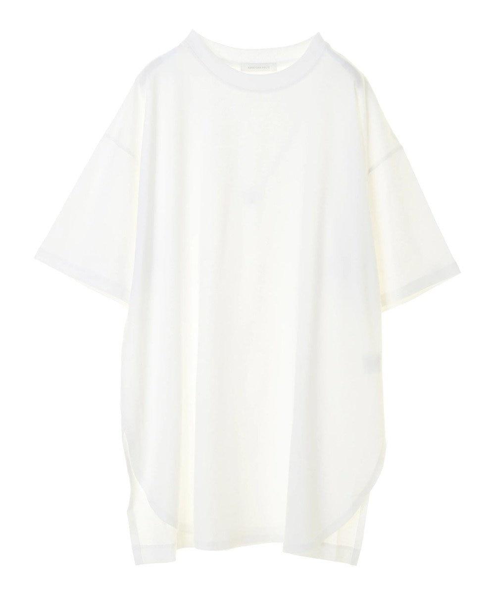 AMERICAN HOLIC 裾ラウンドドロップショルダーカットチュニック Off White
