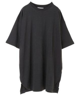 AMERICAN HOLIC 裾ラウンドドロップショルダーカットチュニック Charcoal Gray