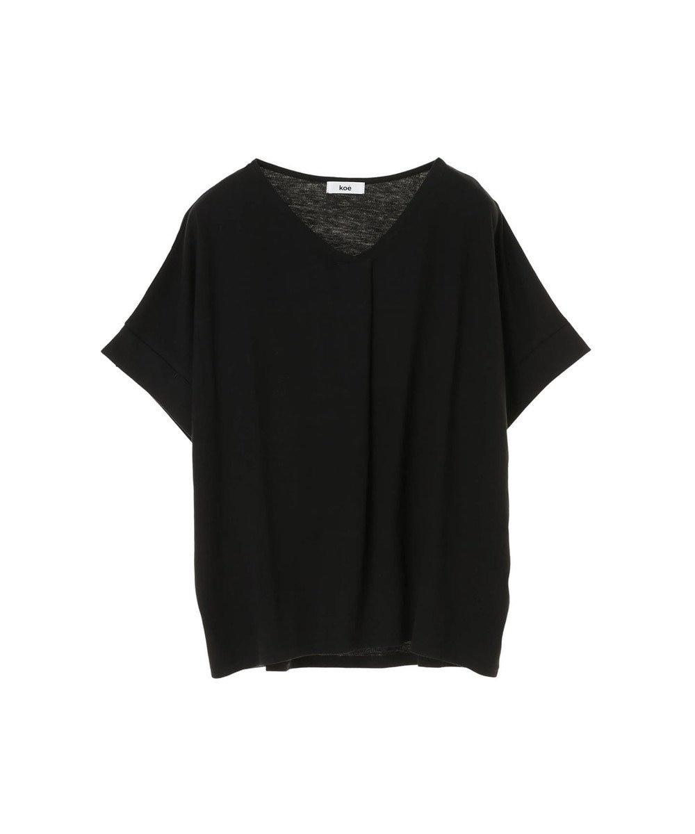 koe スキッパーTシャツ Black