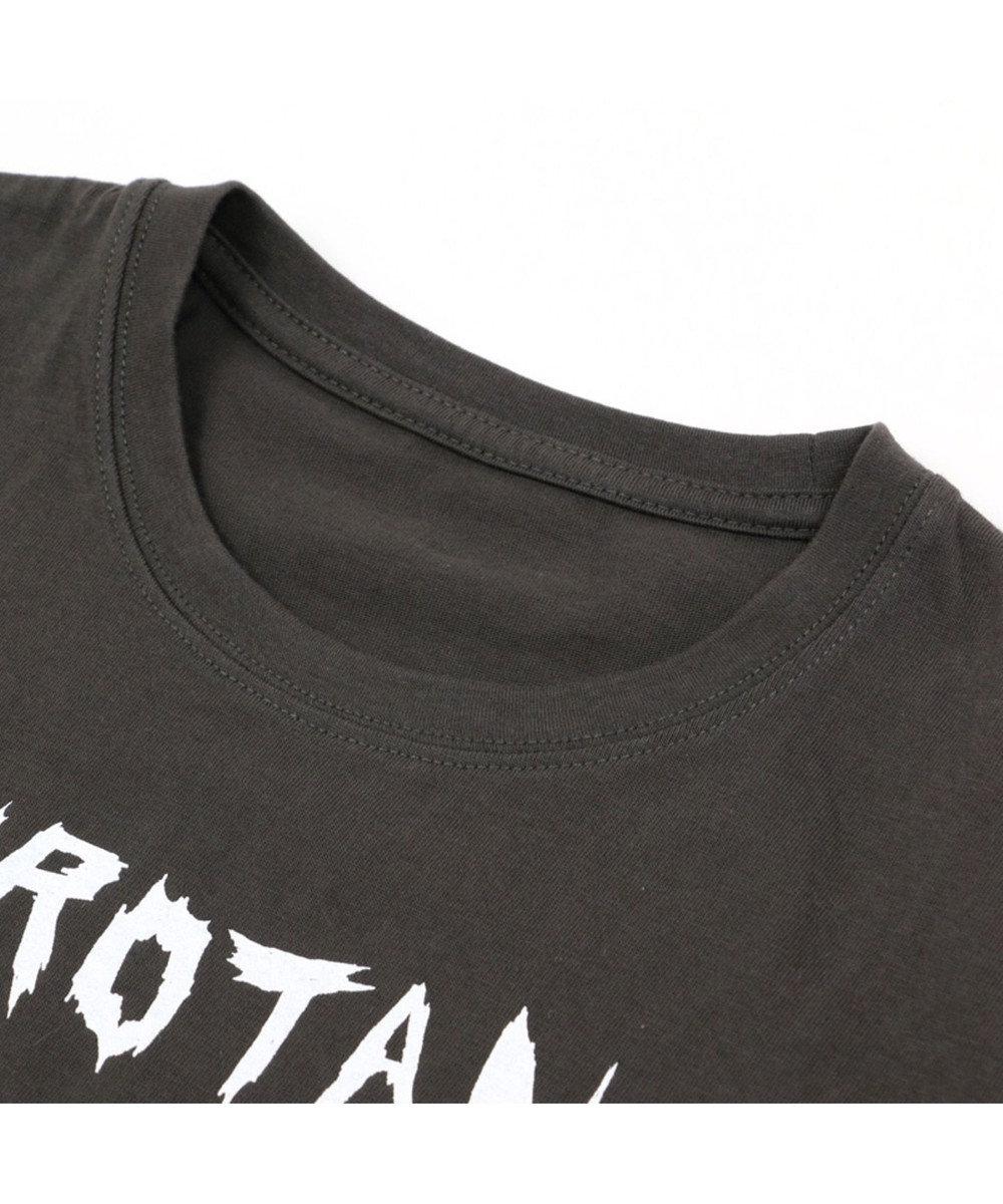 Mother garden しろたん Tシャツ 半袖 SIROTAN ROCKYUUU柄 黒