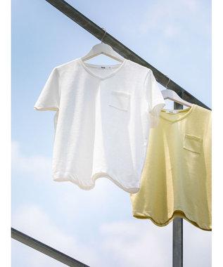 koe きれいめVネックTシャツ White