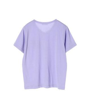 koe きれいめVネックTシャツ Lavender
