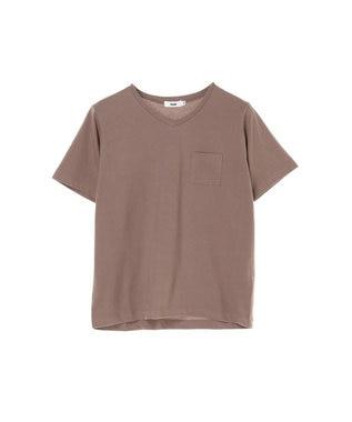 koe きれいめVネックTシャツ Light Brown