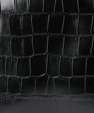 UNBILLION cachecache エキゾチックレザーアソートボストンバッグ ブラック