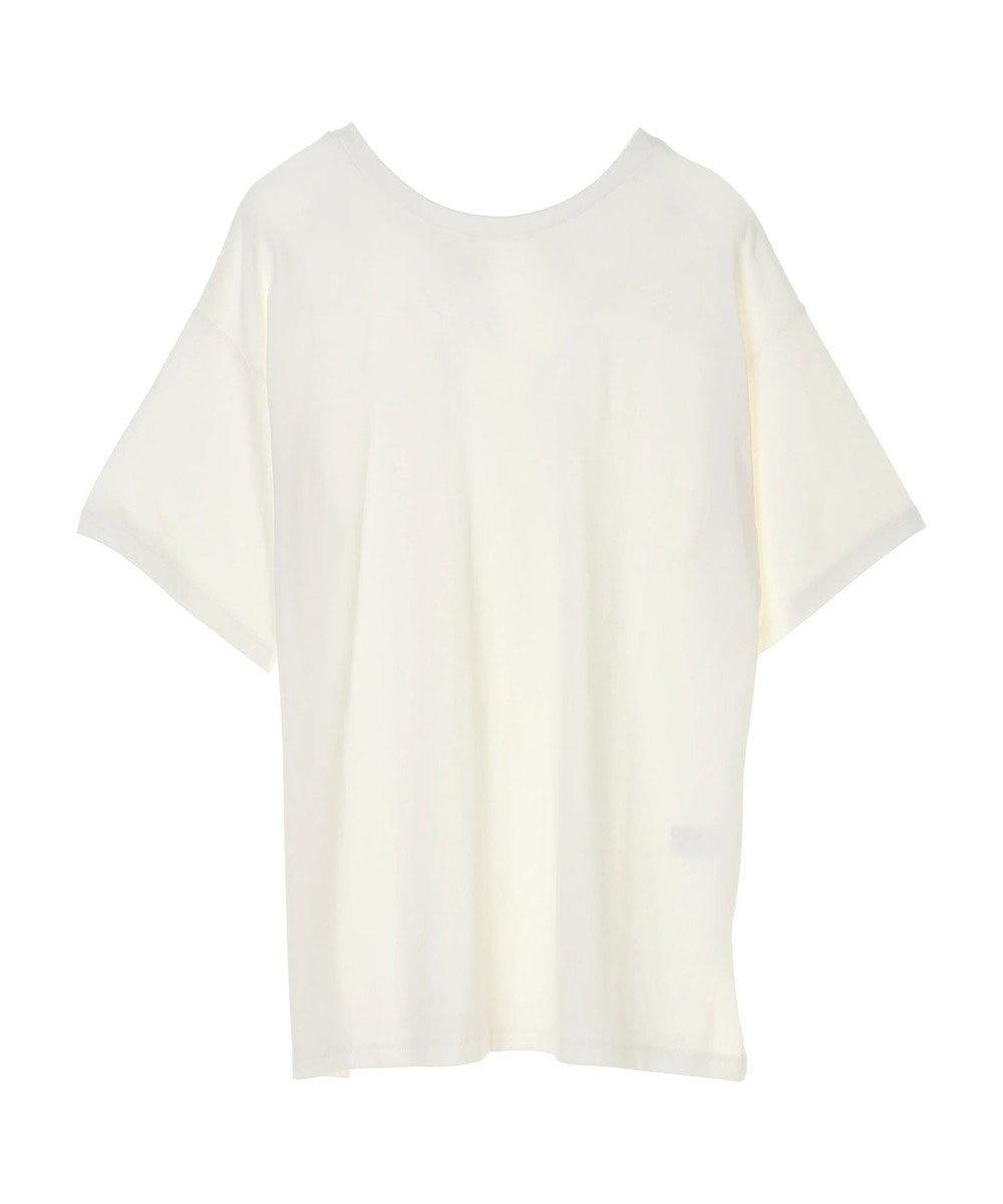 Green Parks ・SUGAR SPOON バックVネックTシャツチュニック Off White