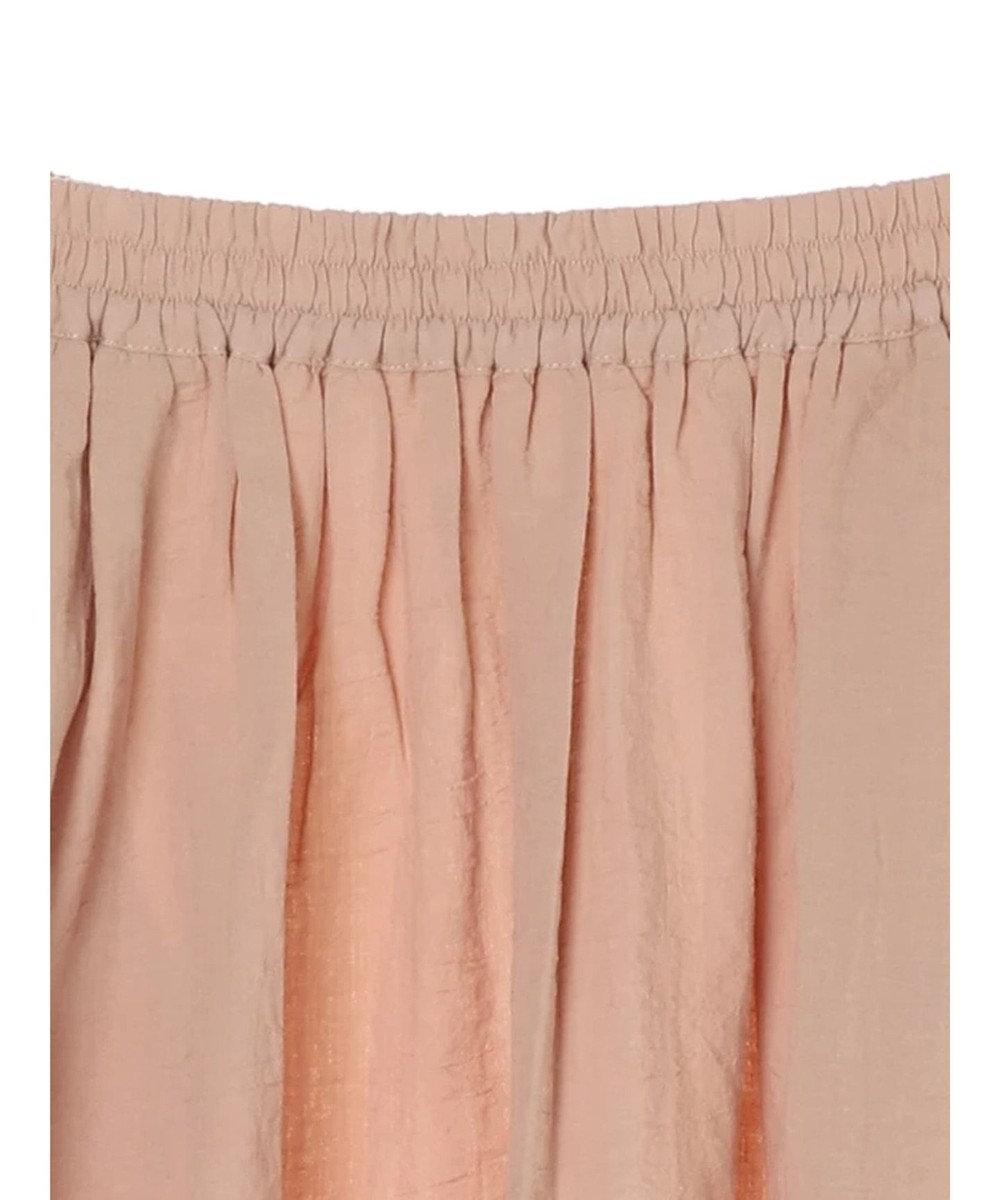 Green Parks 綿レーヨンサッカー調ストライプスカート Salmon Pink