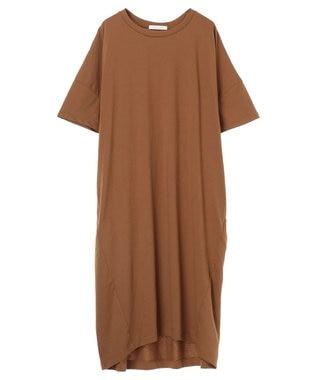 AMERICAN HOLIC 半袖コクーンカットワンピース Camel