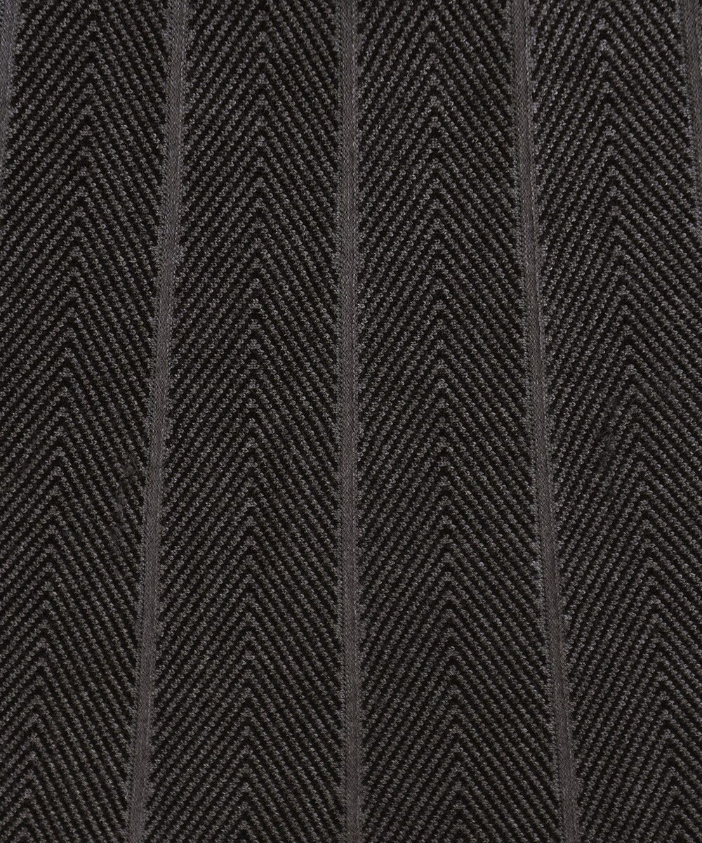 Tiaclasse 【洗える】1枚で着映えする、ヘリンボンニットワンピース チャコールグレー