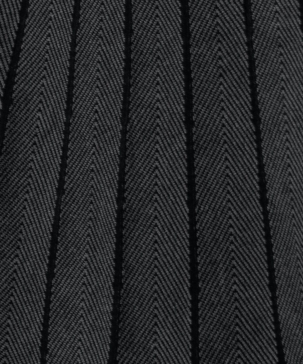 Tiaclasse 【洗える】1枚で着映えする、ヘリンボンニットワンピース ブラック