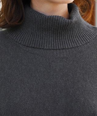 Tiaclasse 【新色追加・洗える】体型カバーも叶う、ポンチョ風ニットチュニック チャコールグレー