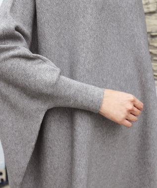 Tiaclasse 【新色追加・洗える】体型カバーも叶う、ポンチョ風ニットチュニック グレー