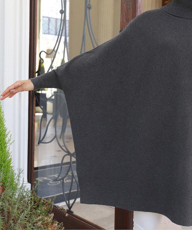 Tiaclasse 【新色追加・洗える】体型カバーも叶う、ポンチョ風ニットチュニック