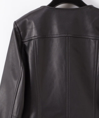 GRACE CONTINENTAL ノーカラーライダースジャケット ブラック