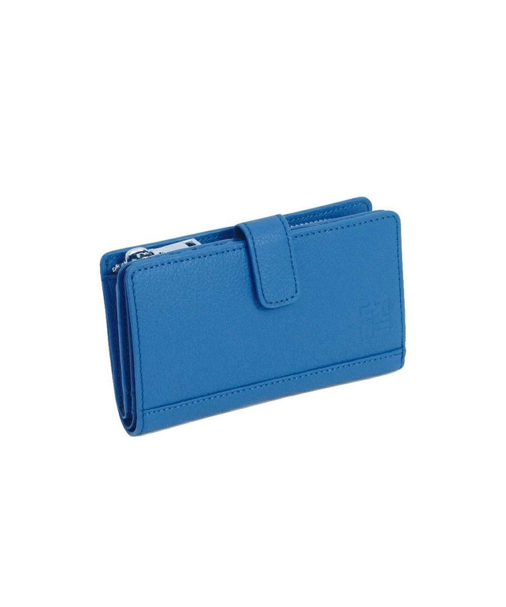 MIYABIYA GRES コパン レザーミニウォレット 折財布 ブルー