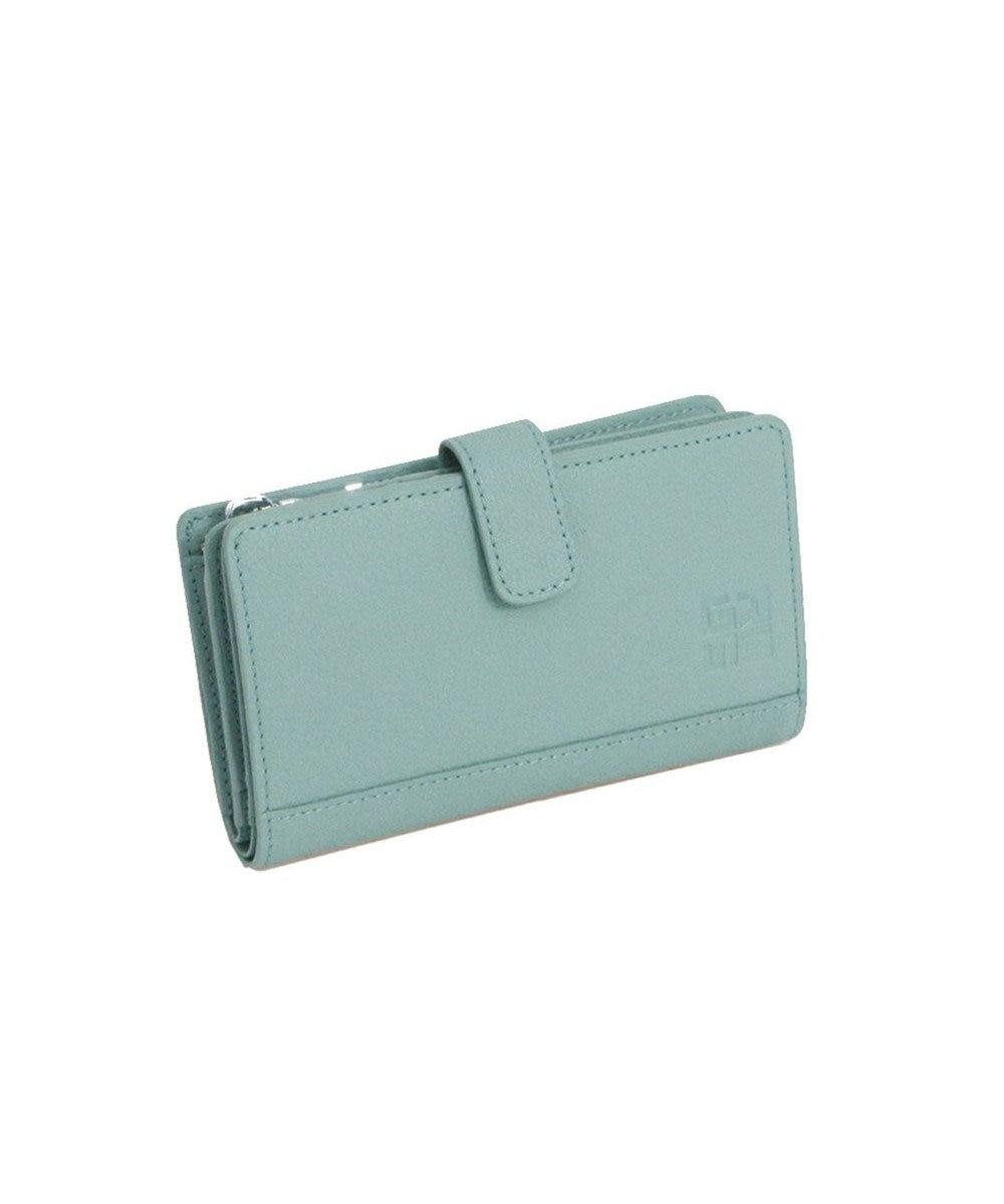 MIYABIYA GRES コパン レザーミニウォレット 折財布 ミントグリーン