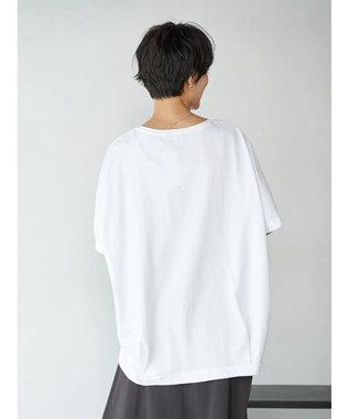 AMERICAN HOLIC 裾タック半袖カットプルオーバー1 Off White