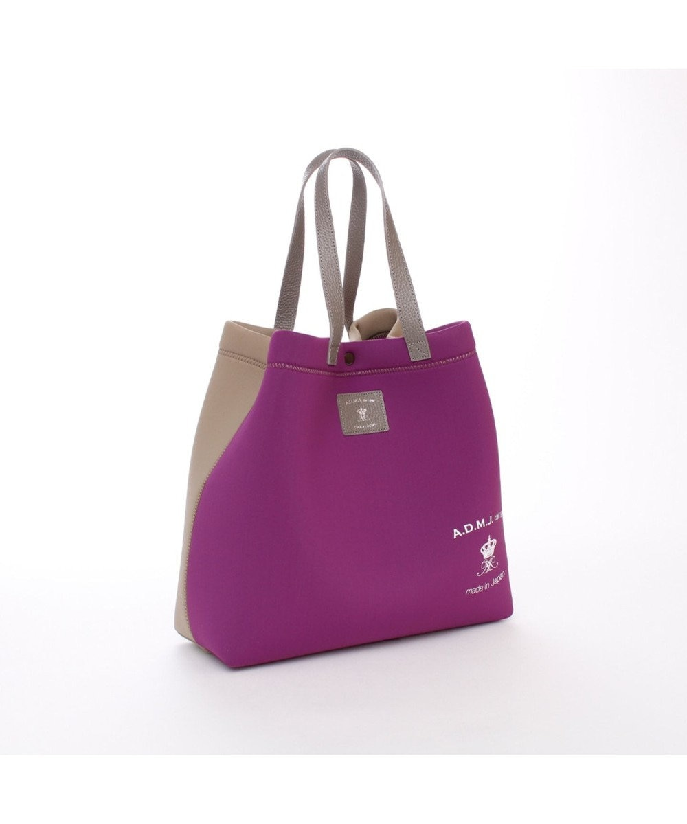 A.D.M.J. TRICOT DOUBLEバイカラー 2WAY TOTE MORADO/TAUPE