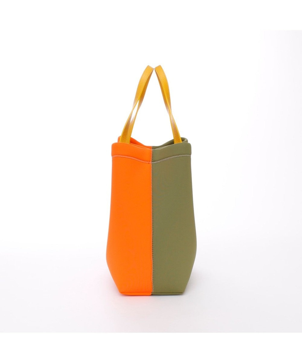 A.D.M.J. TRICOT DOUBLEバイカラー 2WAY TOTE VERDE OLIVA/MANGO