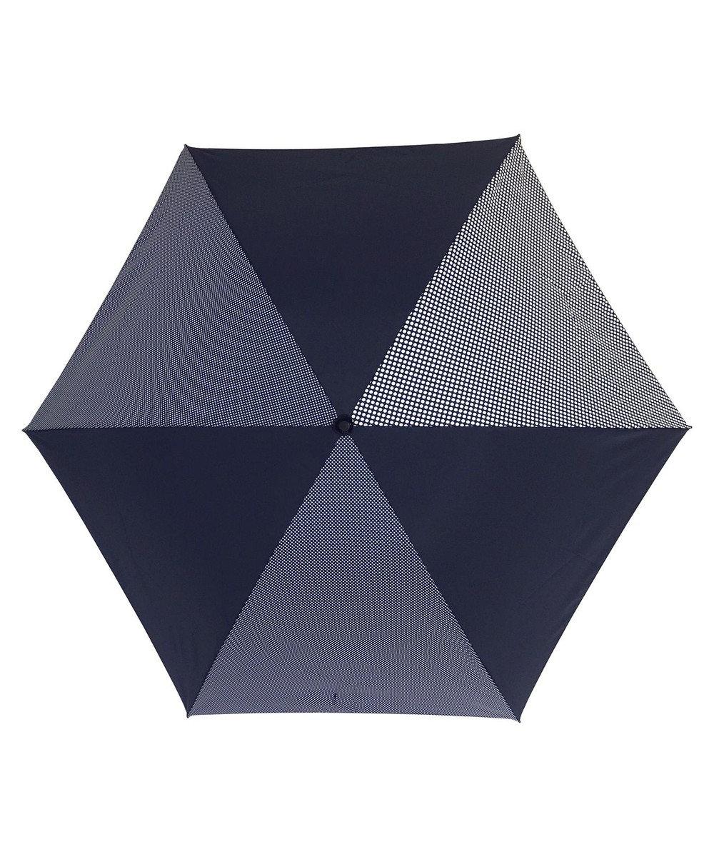 +RING 【プラスリング】数量限定 UNISEX 折傘55cm NVY-DOT T905 紺