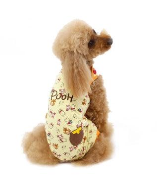PET PARADISE ディズニーくまのプーさん ポップ総柄 ロンパース〔超・小型犬〕 オレンジ