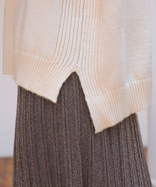 Tiaclasse 【新色追加・洗える】もっちり柔らかいリブタートルプルオーバーニット オフホワイト