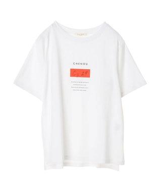 Green Parks ポイントカラープリントTシャツ Off White
