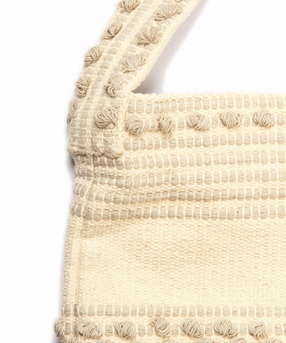 WYTHE CHARM 手織りジャガードボーダーバッグ グレー