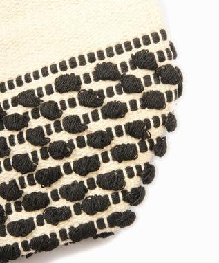 WYTHE CHARM 手織りジャガードボーダーバッグ ブラック