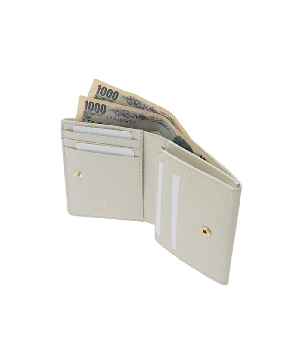 LANVIN en Bleu LANVIN en Bleu ランバンオンブルー ミュゲ BOX二つ折り財布 エクリュ