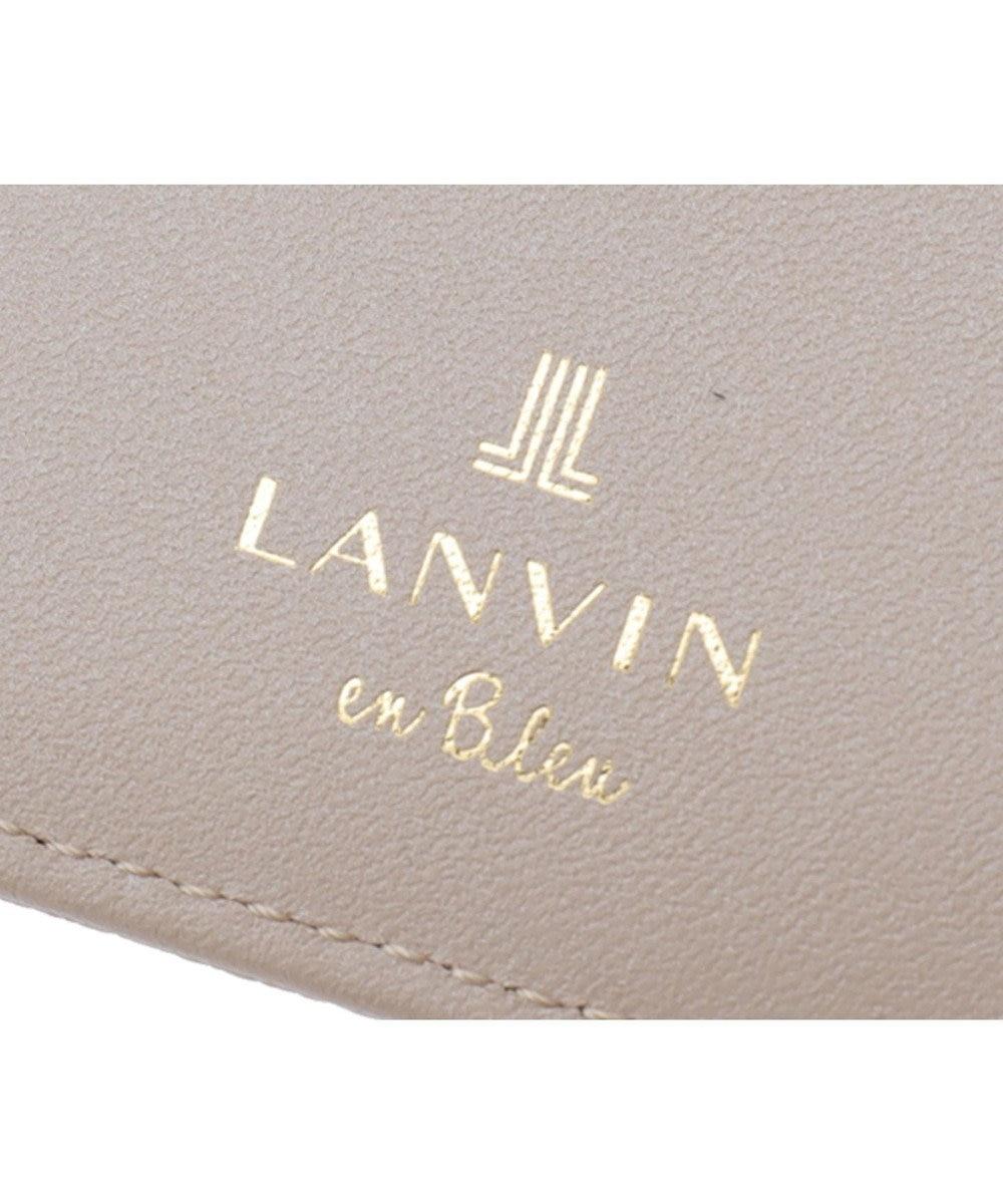 LANVIN en Bleu LANVIN en Bleu ランバンオンブルー ミュゲ BOX二つ折り財布 ペールピンク