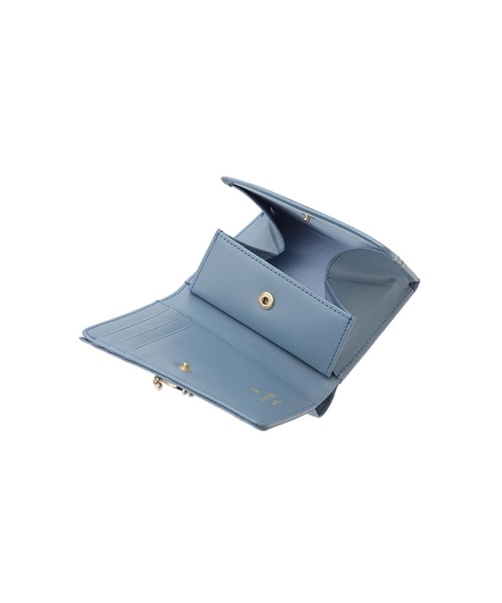 LANVIN en Bleu LANVIN en Bleu ランバンオンブルー ミュゲ BOX二つ折り財布 ブルーグレー