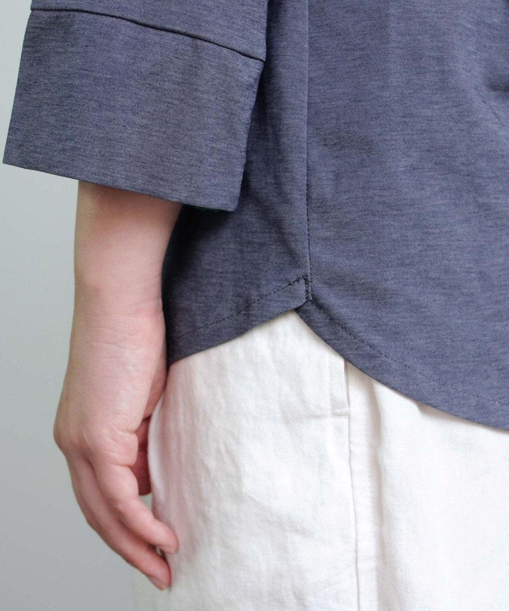 muuc 花刺繍のプルオーバー ネイビー