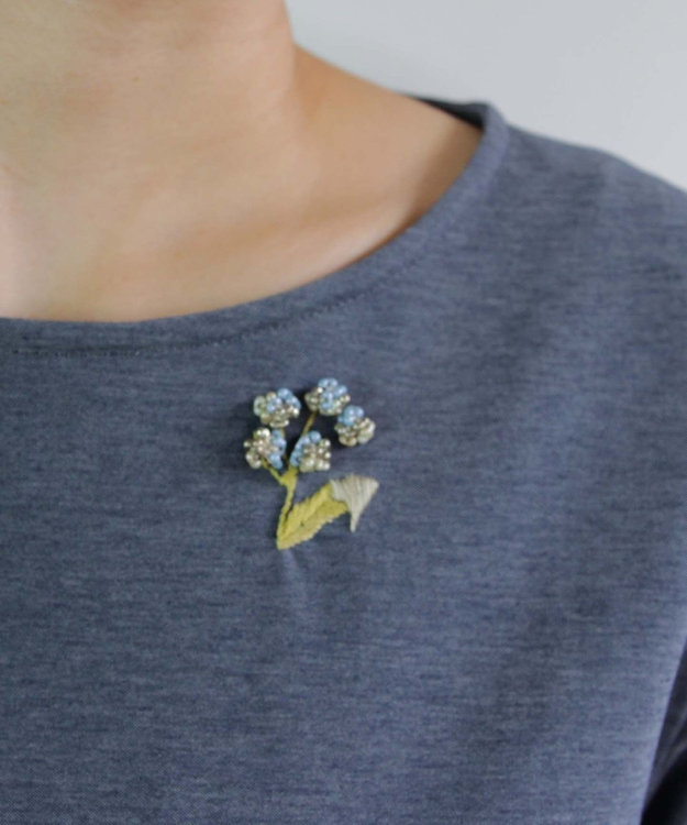 muuc 花刺繍のプルオーバー