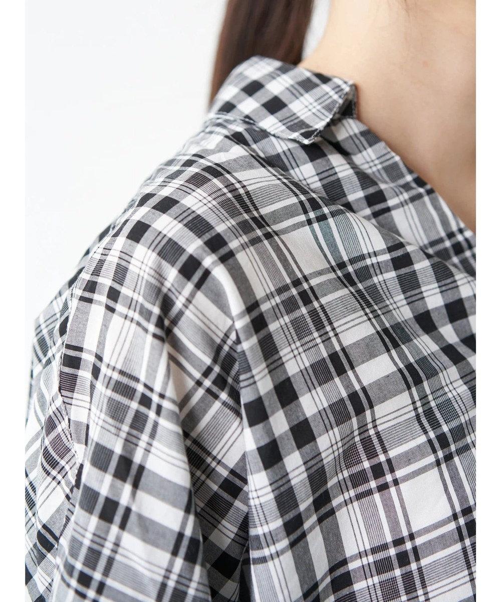 AMERICAN HOLIC スキッパーバックタック半袖シャツ Stripe Sax