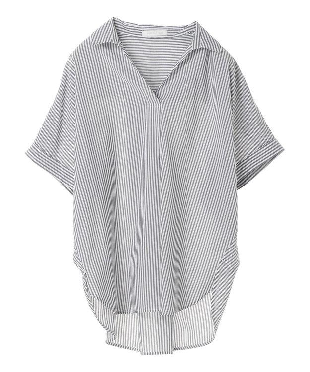 AMERICAN HOLIC スキッパーバックタック半袖シャツ