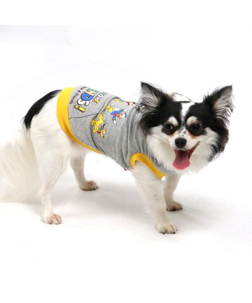 PET PARADISE ディズニー ミッキーマウス フレンズ柄パーカー〔超小型・小型犬〕 グレー