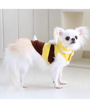 PET PARADISE ペットパラダイス 蜂ふわパーカー〔中型犬〕 黄