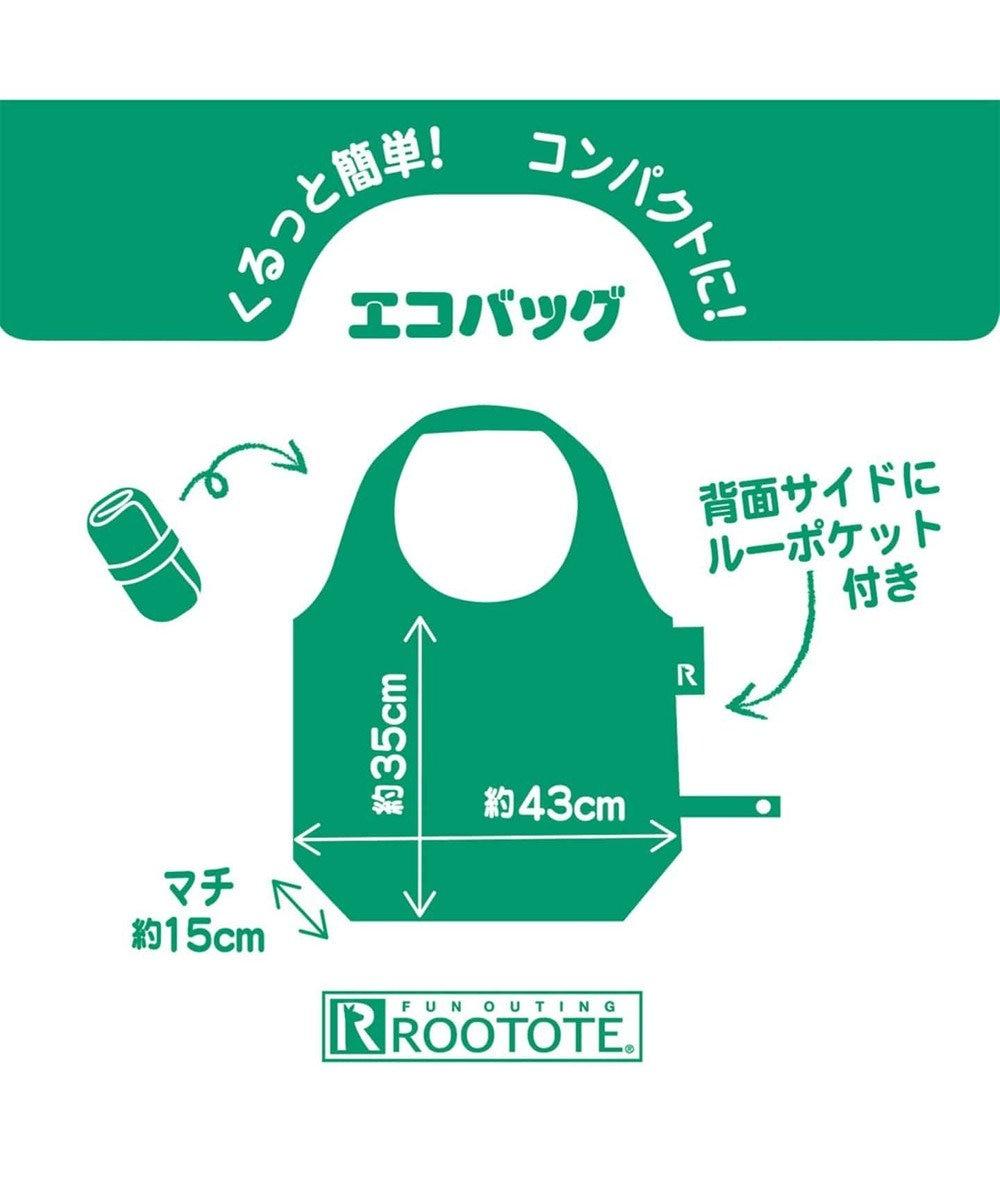 ROOTOTE 8161【スヌーピー:エコバッグ】/ ルーショッパーラウンド.ピーナッツ-6K 01:ブラック