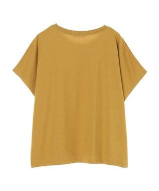 Green Parks メッセージロゴドルマンTシャツ Yellow