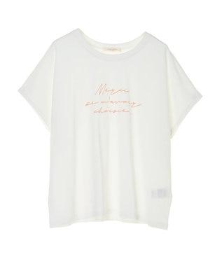 Green Parks メッセージロゴドルマンTシャツ Off White
