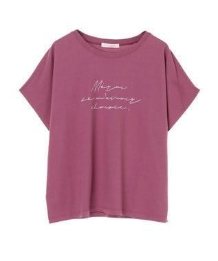 Green Parks メッセージロゴドルマンTシャツ Pink
